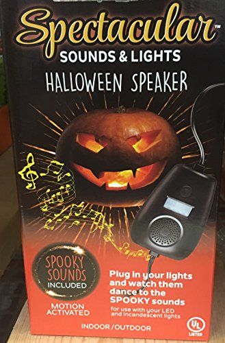 Halloween Lights and Sounds with Speaker Indoor/Outdoor Decoration Motion-Activated Sound and Light (Halloween Outside)