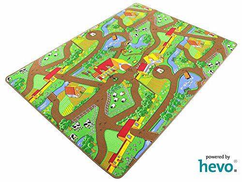 Mein Dorf HEVO ® Strassen Spielteppich   Kinderteppich 145x200 cm