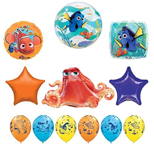 Mayflower Products 12 pc Finding Dory Nemo and Hank Birthday Party Balloon Supplies Decorations ()