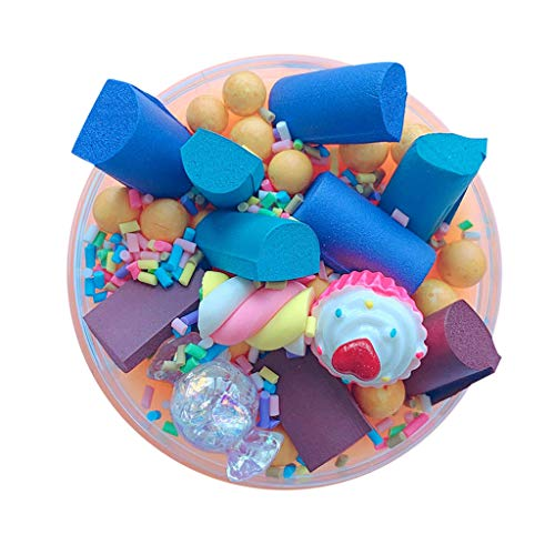 Slime Cute Candy Cotton Foam Strip Elasticity Slime Kids Relief Stress Toys ()