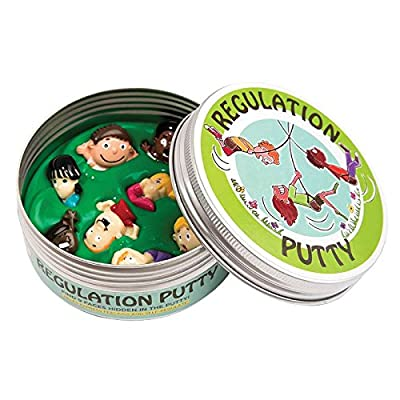 Regulation Putty Therapeutic with 9 Plastic Faces to Express Emotions and Strengthen Hands