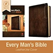 Every Man's Bible: New Living Translation, Deluxe Explorer Edition (LeatherLike, Brown) – Study Bible for