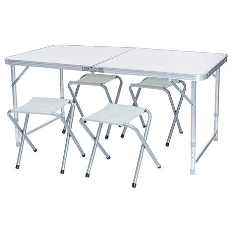 Swell Amazon Com Markmall Portable Camping Table Folding Aluminum Creativecarmelina Interior Chair Design Creativecarmelinacom