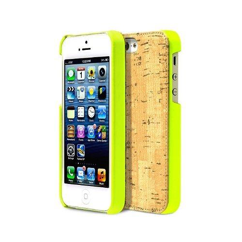 Zenus E-Cork Bar Case/Tasche Neon Grün für Apple iPhone 5/5S