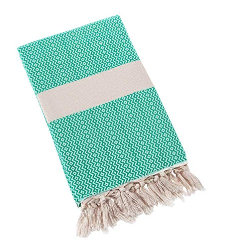Supreme Zebra Print Rug (Eshma Mardini Natural Turkish Towel Peshtemal - 100% Natural Dyed Cotton - for Beach Spa Bath Swimming Pool Hammam Sauna Yoga Pilates Fitness Gym Picnic Blanket - ( Turquoise ))