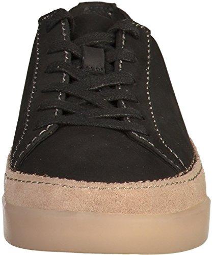 Clarks Casual Mujer Zapatos Hidi Holly En Nobuk Negro Negro