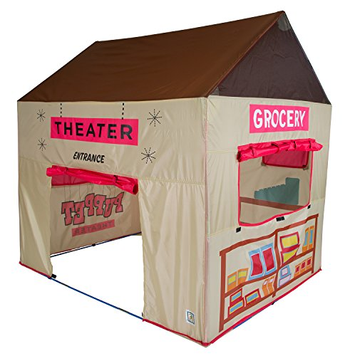 Pacific Play Tents Kids Grocery Store and Puppet Theater House Tent Playhouse