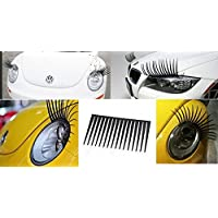 Car Eyelashes FITS ALL CARS Pair of Universal Curly Sexy Car Headlight Eyelashes Decal Sticker Vinyl By AoE Performance