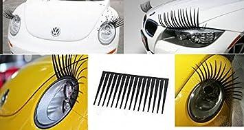Wadoy Car Headlight Eyelashes Universal Fits Any Car High Quality Decal