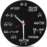 Maths Clock - Unique Wall Clock - Each Hour Marked By a Simple Math Equation - quartz clock - Novelty Timepiece