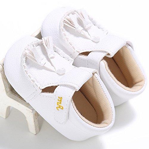 Zapatos de bebé Estilo super guay Zapatos con la suela antideslizante para bebé Zapatos para los primeros pasos Luerme Blanco