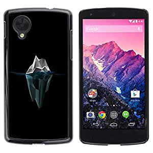 Caucho caso de Shell duro de la cubierta de accesorios de protección BY RAYDREAMMM - LG Google Nexus 5 D820 D821 - Polygon Iceberg