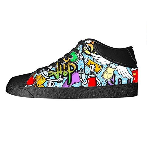I Women's Tetto Da Custom Alto Lacci Ginnastica Graffiti Delle Shoes Scarpe Canvas w5xUBpqxI