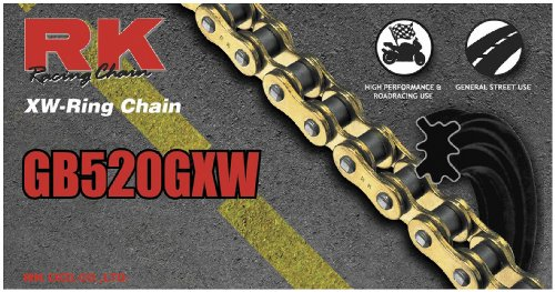 RK 520 GXW GB XW-Ring Chain - 112 Links - Gold , Chain Type: 520, Chain Length: 112, Color: Gold, Chain Application: All GB520GXW-112