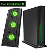 DOBE Xbox One X Cooler, Cooling Fan, Vertical Cooling Stand with 3× 2.0 USB HUB Adapter Ports for Microsoft Xbox One X