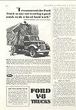 1941 Ford Platform Truck Ad Goodyear Tire