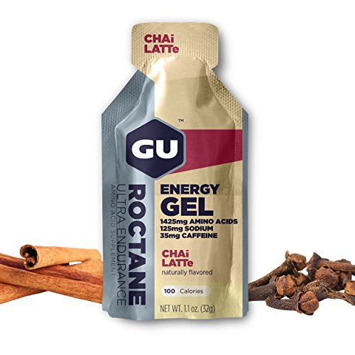 GU Energy Roctane Ultra Endurance Energy Gel, 24-Count, Chai Latte