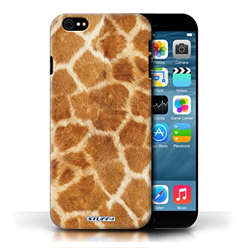 Etui / Coque pour Apple iPhone 6/6S / Orange conception / Collection de Girafe animale Peau/Motif