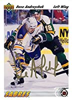 Signed Andreychuk, Dave (Buffalo Sabres) 1991 Upper Deck Hockey Card autographed
