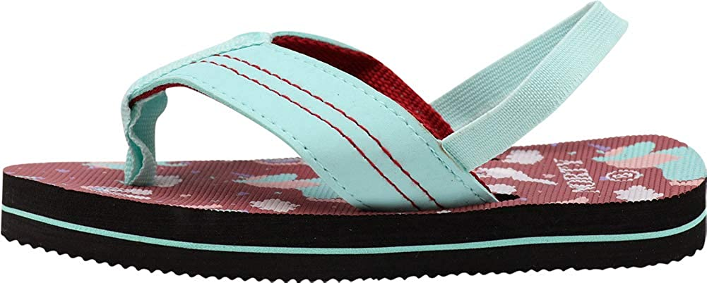 NORTY Boys and Girls Flip Flops Sandals with Back Strap for Toddler//Little Kid