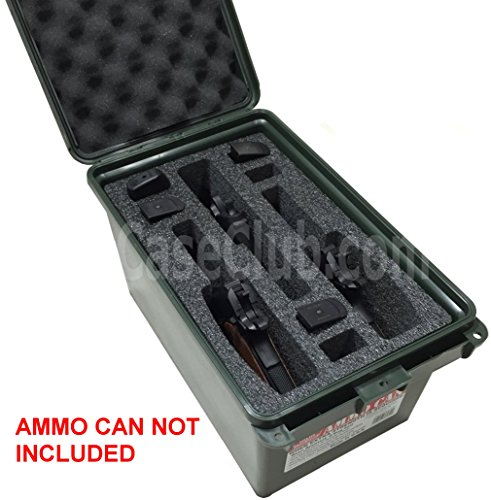 Case Club 3 Pistol & 6 Magazine Holder Large AC-11 MTM Ammo