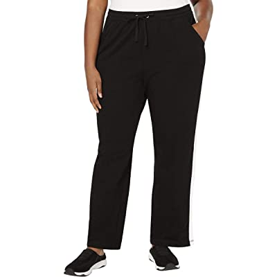 Karen Scott Womens Plus Colorblock Stripe Casual Pants at Women's Clothing store