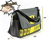 DC Comics Batman Grey Diaper Bag Includes Changing