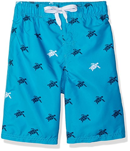 Kanu Surf Little Boys' Terrapin Turtle Quick Dry Beach Board Shorts Swim Trunk, Aqua, Small (4) by Kanu Surf