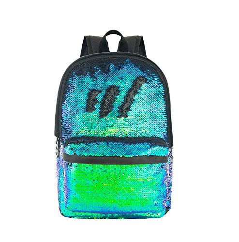 (HeySun Magic Reversible Sequins Backpack Cute Sparkly Book Bags Backpack for)
