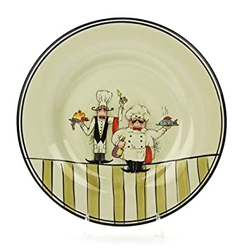 Le Chef by HD Designs Stoneware Dinner Plate  sc 1 st  Amazon.com & Amazon.com | Le Chef by HD Designs Stoneware Dinner Plate: Dinner ...