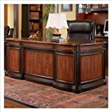 Coaster Home Office Executive Desk in Two Tone Warm Brown Finish Review