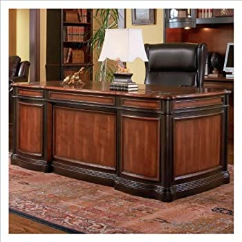 Amazon Coaster Home Office Executive Desk in Two Tone Warm