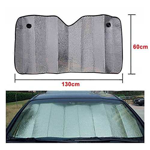 niceeshop tm front retractable car windshield sun shade heat shield keeps vehicle cool buy. Black Bedroom Furniture Sets. Home Design Ideas