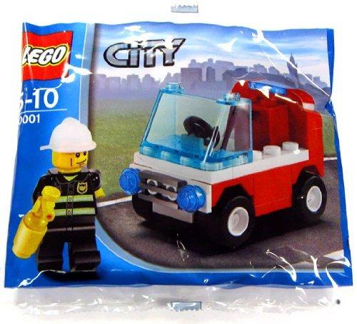 LEGO City Exclusive Mini Figure Set #30001 Firemans Car Bagged - Exclusive Mini Figure Set
