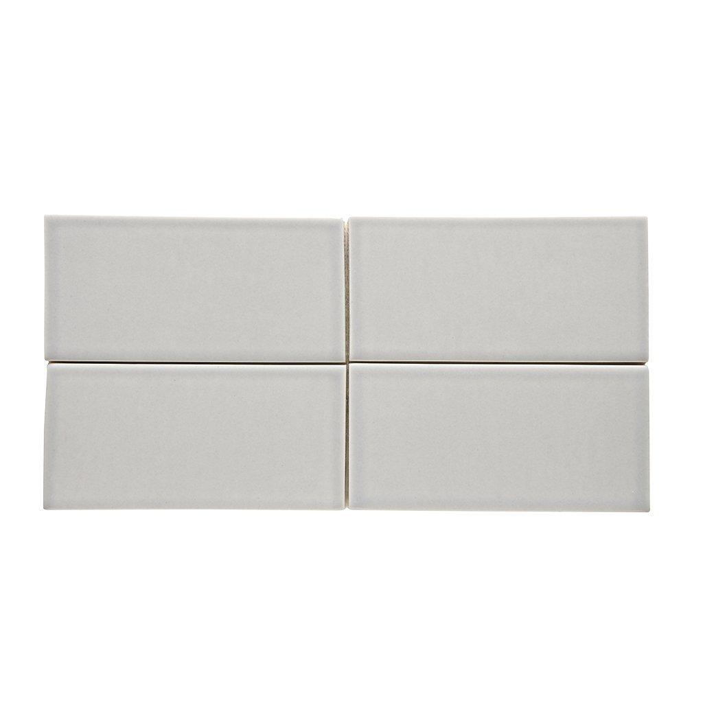 Waterworks Architectonics Field Tile 3 x 6 in Gray Glossy