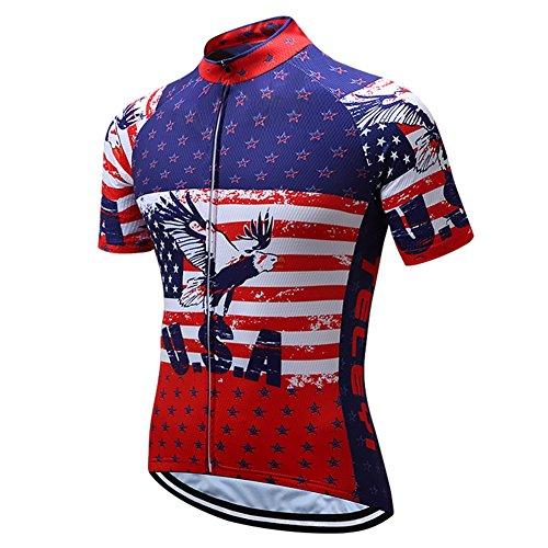 Xinzechen Men's Cycling Jersey Polyester Short Sleeve USA Flying Eagle Size XXXL