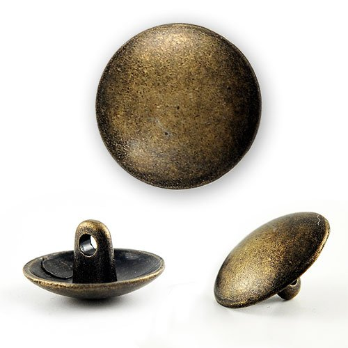 Round Metal Button with Shank 5/8
