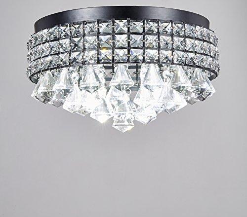 Flush Mount Chandelier Pendant Ceiling Lighting Black Modern KTM