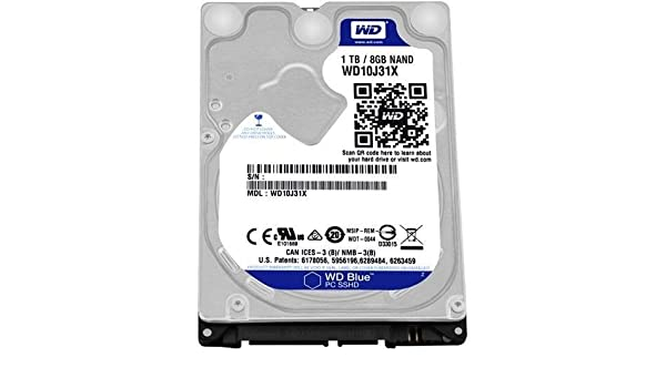 Western Digital WD wd10j31 X -00u3vt0 Azul Duro híbrido de 2,5 ...