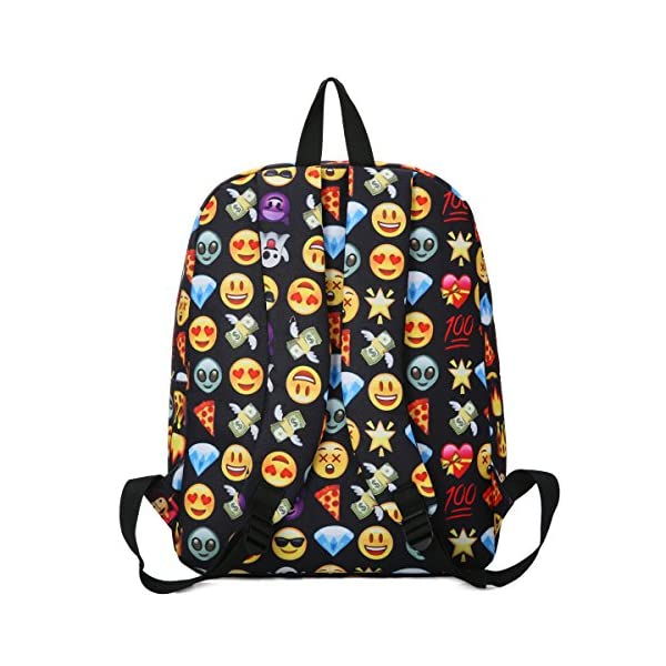Emoji Funny School Canvas Travel Messenger Bag Cute School SMILE Set