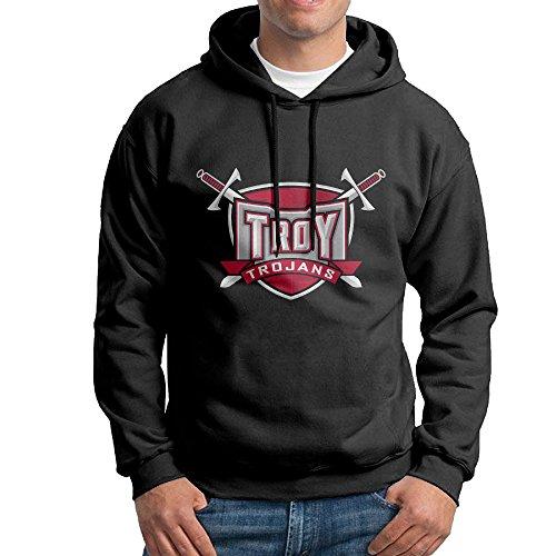 fuoalf para hombre sudadera con capucha Troy Estado Universidad Logo Sudaderas negro, L, Negro: Amazon.es: Deportes y aire libre