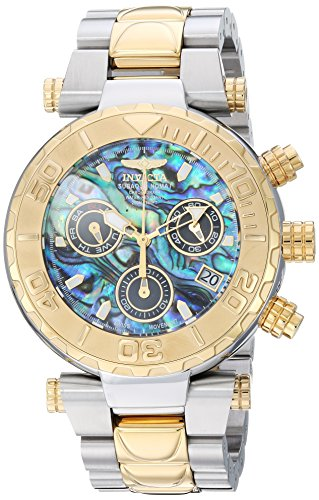 Invicta Men's Subaqua Quartz Watch with Stainless-Steel Strap, Two Tone, 24 (Model: 25805)