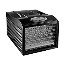 Chefman Food Dehydrator Machine Professional Electric Multi-Tier Food Preserver, Meat or Beef Jerky Maker, Fruit & Vegetable Dryer with 6 Slide Out Trays & Glass Door - RJ43-SQ-6