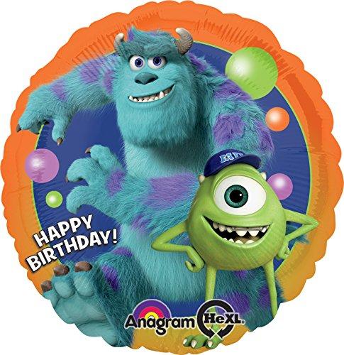 Anagram International Monsters University Birthday Foil Balloon Pack, Multicolor for $<!--$2.95-->