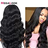 Megalook 360 Lace Frontal Wig with Baby Hair Brazilian Body Wave Human Hair