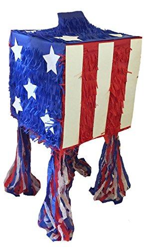 Patriotic Cube Pinata 4th of July Pinata by Everybodylovespinatas