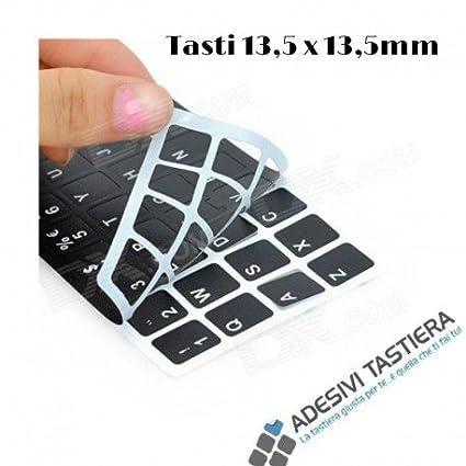 StickersLab - Adhesivos de letras para teclado italiano, fondo negro con letras blancas, teclas grandes, 13,5 x 13,5 mm 5 pezzi: Amazon.es: Electrónica