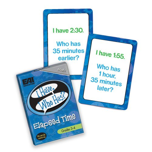 EAI Education I Have, Who Has? Elapsed Time Game: Grades -