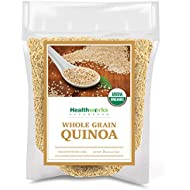 Healthworks Quinoa White Whole Grain Raw Organic (80 Ounces / 5 Pounds) | Protein, Fiber & Iron | Peruvian Origin | Rice & Pasta Substitute