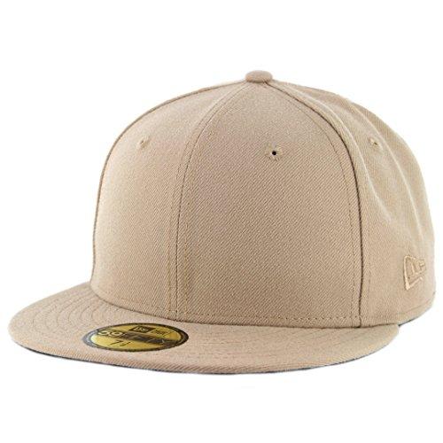 New Era Plain Tonal 59Fifty Fitted Hat (Camel) Mens Blank Cap